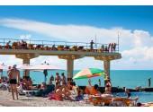 Пансионат Дельфин- Адлер , пляж