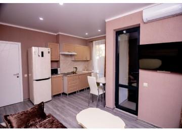 Семейный с террасой 4-местный 2-комнатный (с кухней)
