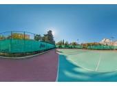 "Санаторий ""Черноморье"", внешний вид, территория, теннисный корт"